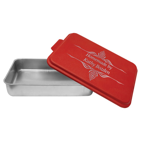 ALUMINUM CAKE PAN WITH LID