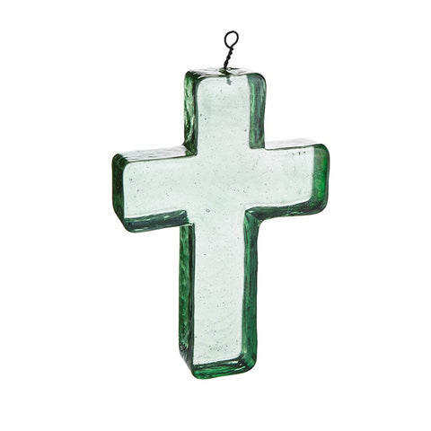 RECICLED GLASS CROSS