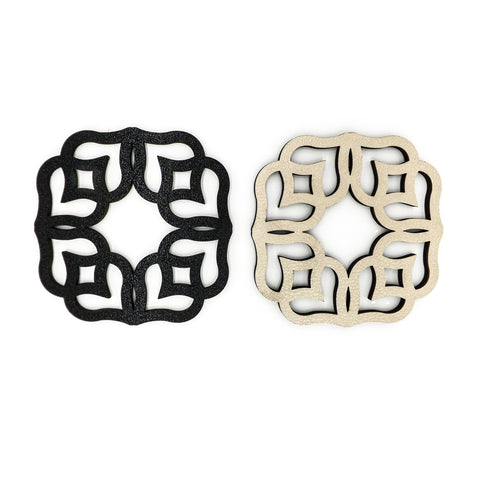 COASTERS GOLD BLACK