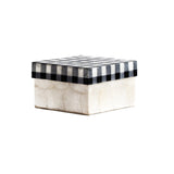 CAPIZ BOX CHECK BLACK AND WHITE