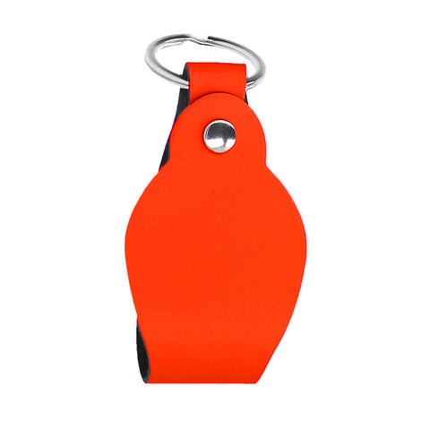 KEYCHAIN ROUND NEON ORANGE  PERSONALIZED