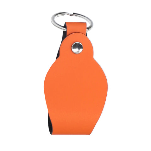 KEYCHAIN ROUND ORANGE  PERSONALIZED