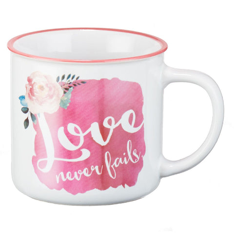 MUG LOVE NEVER FAILS