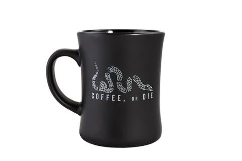 """Coffee, or Die"" Echo Ceramic Mug"