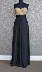 Black and Gold Chiffon Prom Dress | La Femme 22359 La Femme- Schaffer's Bridal in Des Moines & Phoenix