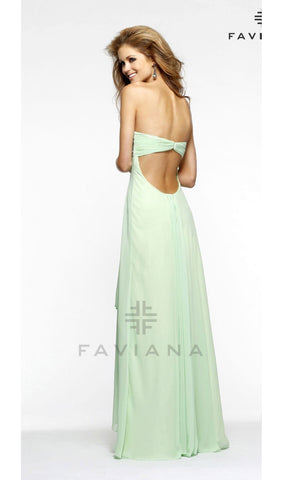 Subtle High-low Chiffon With Intricate Beaded Bust | Faviana - STYLE 7335