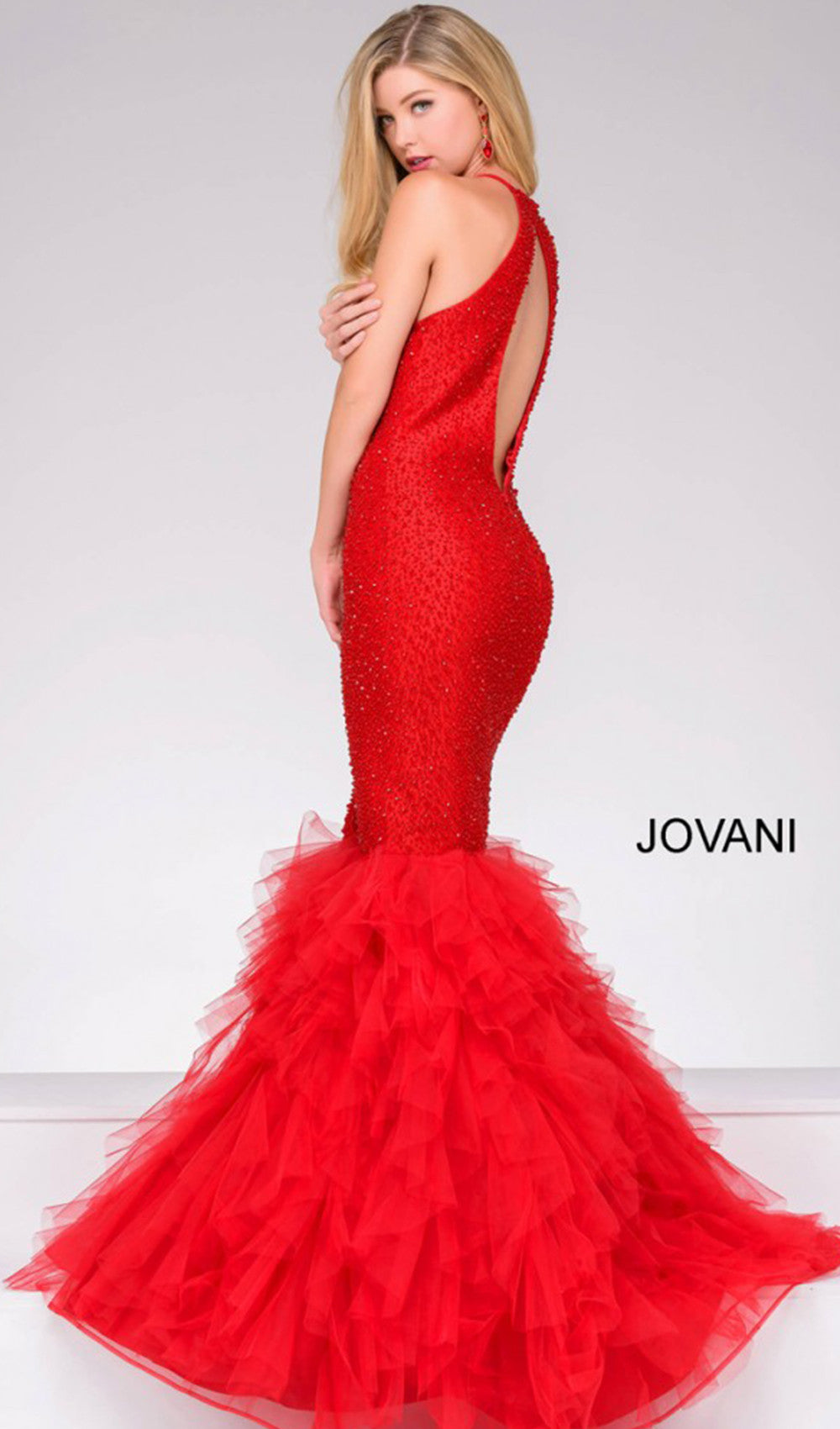 Fabulous Modern Mermaid Dress | Jovani - STYLE 37473 JOVANI- Schaffer's Bridal in Des Moines & Phoenix