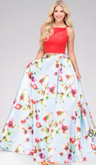 Vibrant Two Piece Prom Dress | Jovani - STYLE 49990 | Schaffer's Bridal in Des Moines, Iowa