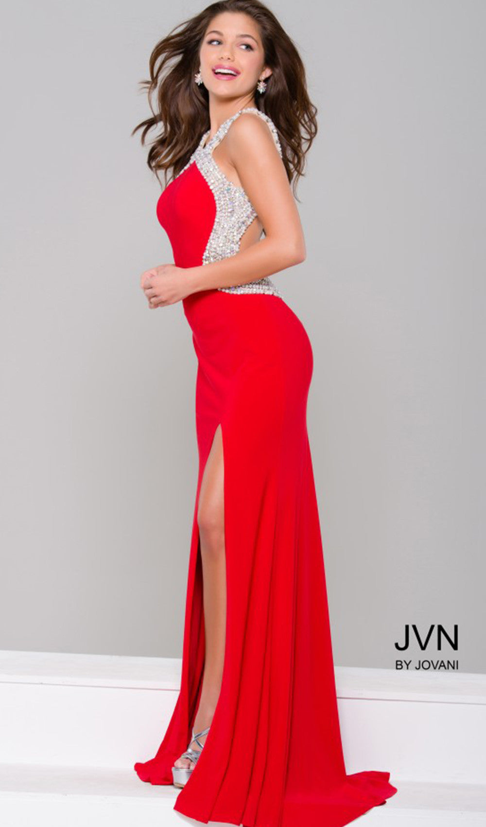 Embellished Red-Carpet-Ready Dress | Jovani - STYLE JVN47030 JOVANI- Schaffer's Bridal in Des Moines & Phoenix