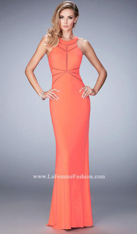 Captivating Jersey Gown | La Femme - STYLE 22259