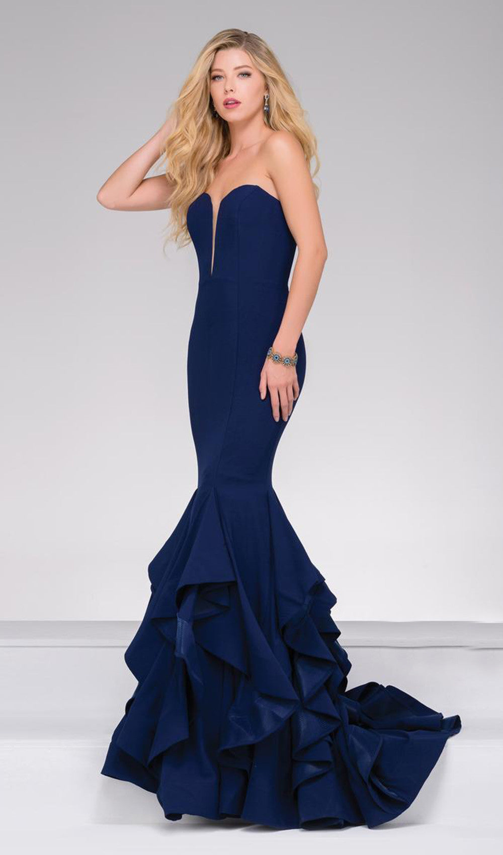Exquisite Dramatic Crepe Dress | Jovani - STYLE 31625 JOVANI- Schaffer's Bridal in Des Moines & Phoenix