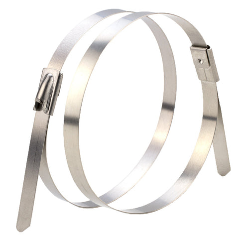 "Stainless Steel Cable Ties 14"" x 250# 100 pack - FastenerExpert.us"