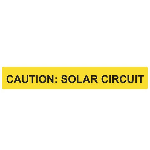 Solar Label, Caution - Solar Circuit Reflective Label 50 pack - FastenerExpert.us