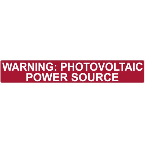 Pre-Printed Solar Label, Red Reflective 50 pack - FastenerExpert.us