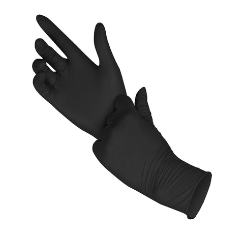 PRO DISPOSABLE NITRILE GLOVES POWDER-FREE 1000 pack - S (BLACK) 5MIL - FastenerExpert.us