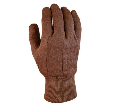 PROFERRED INDUSTRIAL GLOVES 12 pack - L BROWN JERSEY GLOVE - FastenerExpert.us