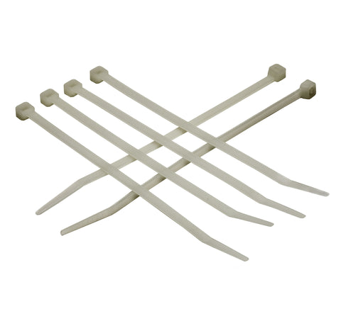 "PROFERRED NYLON 66 NATURAL CABLE TIES 500 pack - 4"" 18 LB(0.10""W, 0.04""T) - FastenerExpert.us"