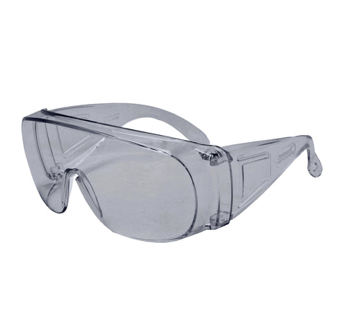 Clear Lens Non-Metal Safety Glasses - 12 pack