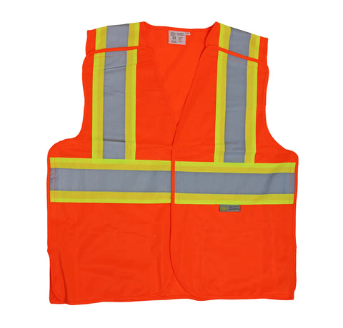 PROFERRED REFLECTIVE VEST 6 pack - MD, Orange - FastenerExpert.us