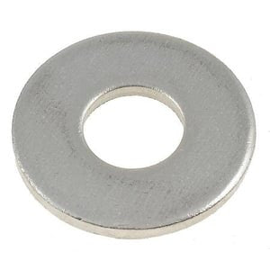 "1/4"" Commercial Flat Washer 3/4"" OD 18-8 Stainless Steel 2500 pack - FastenerExpert.us"
