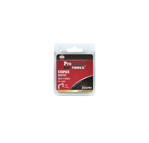 "PROFERRED STAPLES (1.2MM THICK, 10.6MM WIDE) 100 boxes - 1/4""(6mm) Height - FastenerExpert.us"