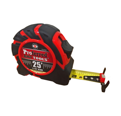 "PROFERRED TAPE MEASURE - 25 ft-1 1/16"" BLADE - FastenerExpert.us"