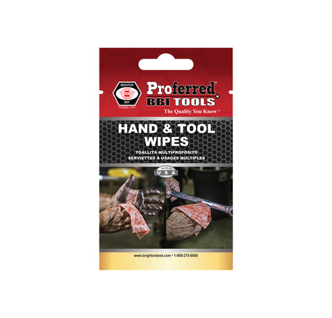 PROFERRED HAND & TOOL WIPES - 100 pack - FastenerExpert.us