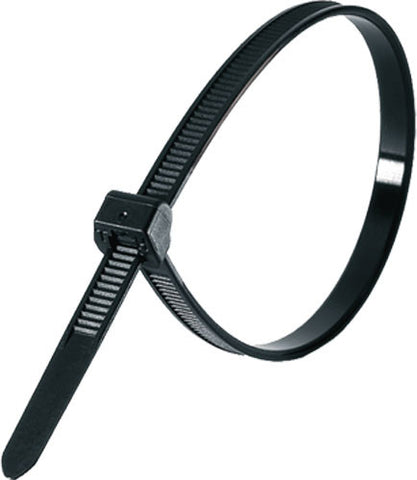 "Standard Cable Tie, 8"" Long Black 100 pack - FastenerExpert.us"