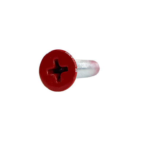 "1"" Red Paint Phillips Mounting Hardware 100 Pack"