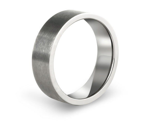 Flat wedding bands