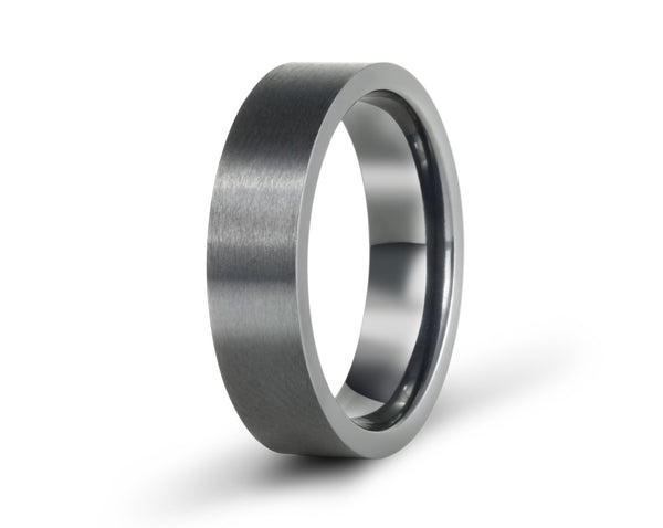 black titanium wedding rings