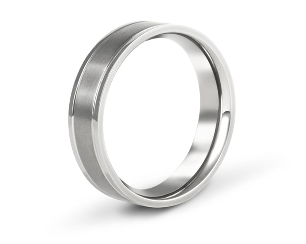 Grooved wedding bands