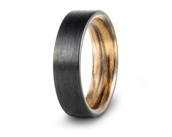carbon fiber and koi wedding bands
