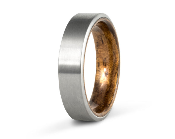 Wood and titanium rings