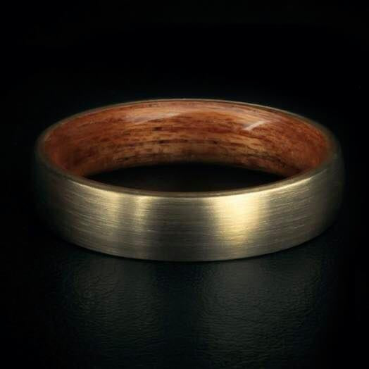 X79 Støberi Custom Ring  - 14K Gold & Rosewood
