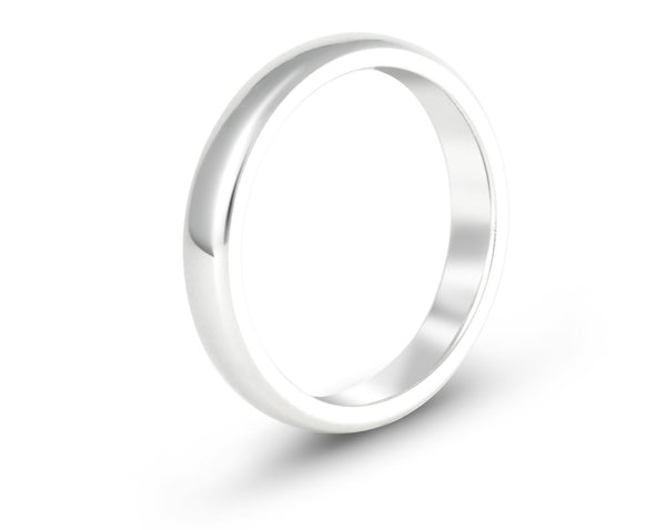 Classic White Gold Bands - Couples Set