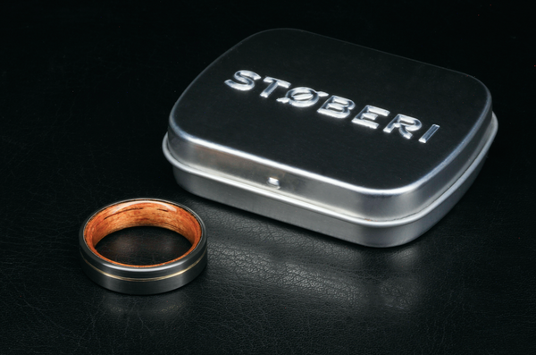 X72 Støberi Custom Ring: Tantalum, Koa & Rose