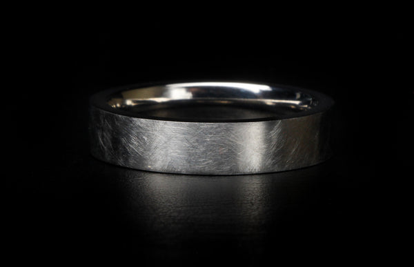 X65 Custom Ring: Distressed Domed Titanium