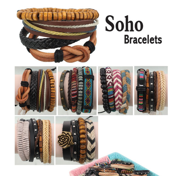 Minzu Men's Soho Bracelet Stacks