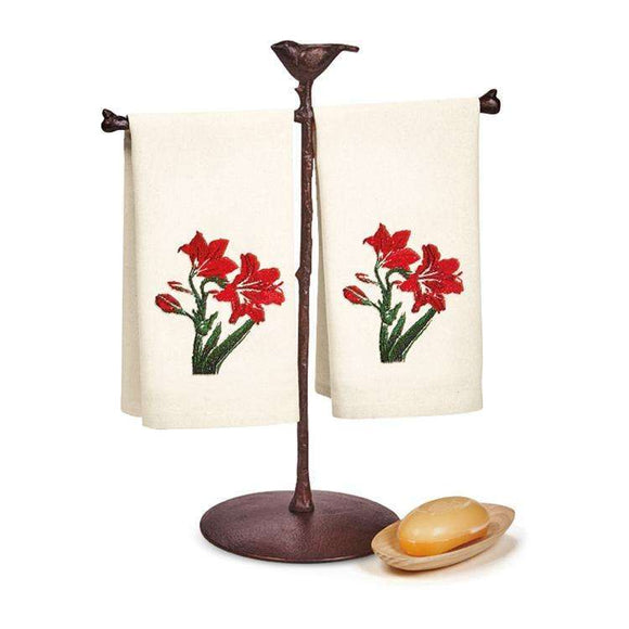 TAG Amaryllis Embroidered Guest Towel Set of 2