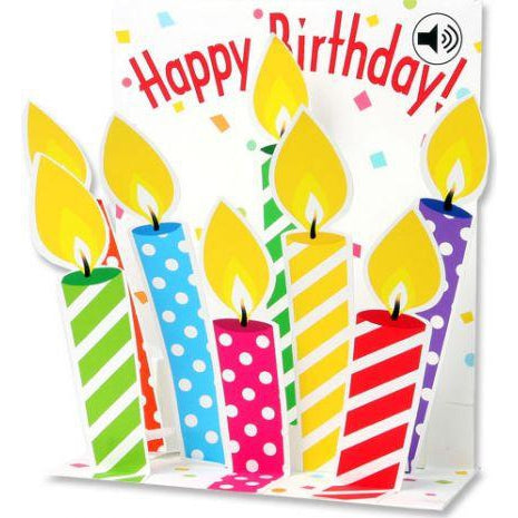 Musical Birthday Candles Popup Happy Birthday Card