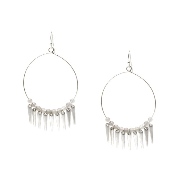 Marlyn Schiff Fish Hoop with Beads Fringe