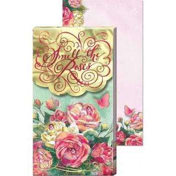 Large Pocket Notepad Smell The Roses