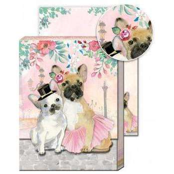 Pocket Notepad-French Bulldog Couple