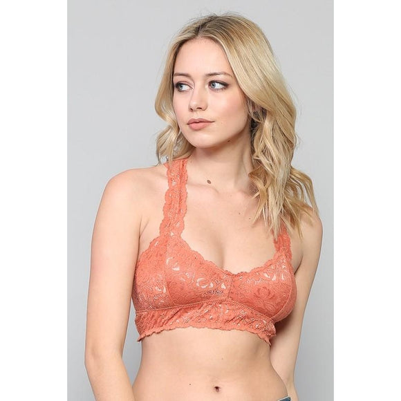 By Together Racerback High Quality Lace Bralette TT5508