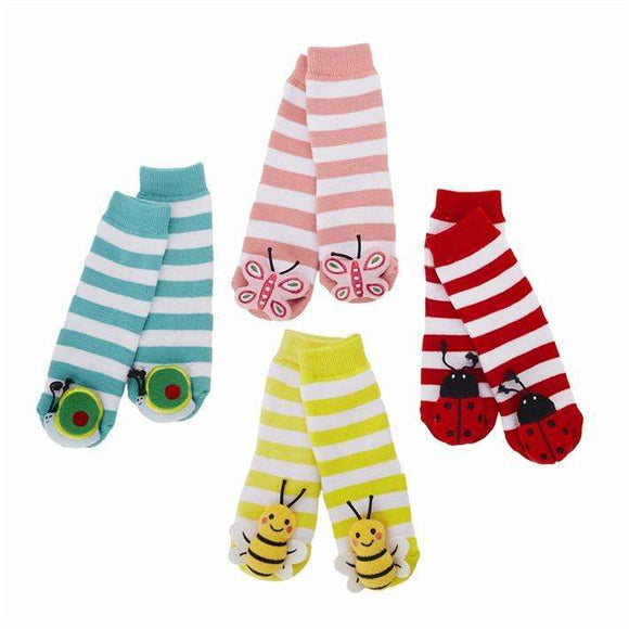 Insect Rattle Socks 4 Colors 4 Insects