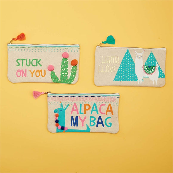 Llama Love Cosmetic Multipurpose Bags