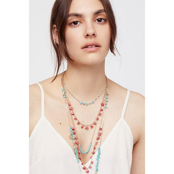 Free People Surfer Bay Stone Necklace