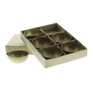 Alma Metal Tealight Holder Boxed Set of 6 - Brass