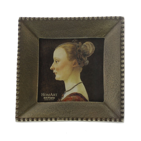 Homart Erica Cast Metal Picture Frame Square 4